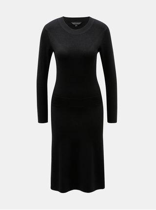 Čierne svetrové šaty Dorothy Perkins