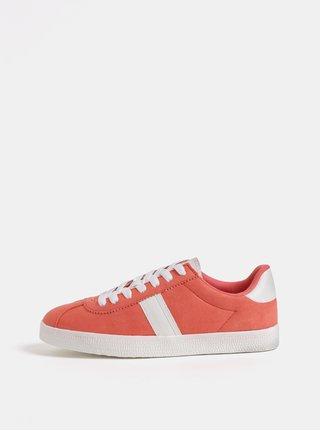 Pantofi sport corai cu aspect de piele intoarsa Dorothy Perkins Izzy