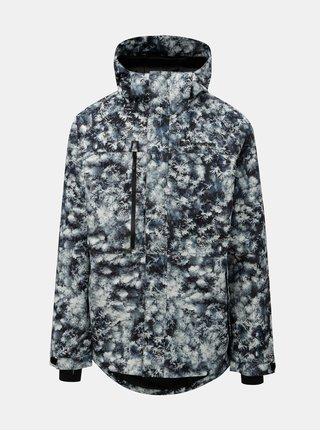 Modro-šedá pánská vzorovaná funkční zimní bunda Horsefeathers Prowler