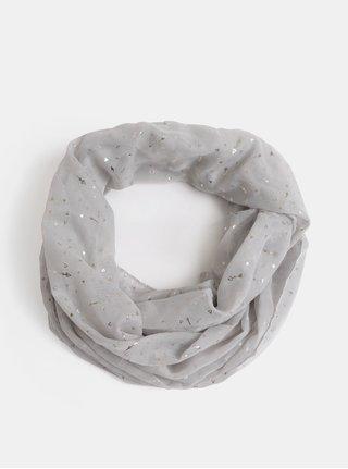 Světle šedý šátek s motivem šípů Dorothy Perkins Arrow