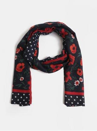 Červeno-modrý květovaný šátek Dorothy Perkins Poppy
