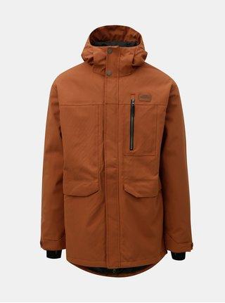 Oranžová pánská funkční zimní bunda s prodlouženou délkou Horsefeathers Hornet