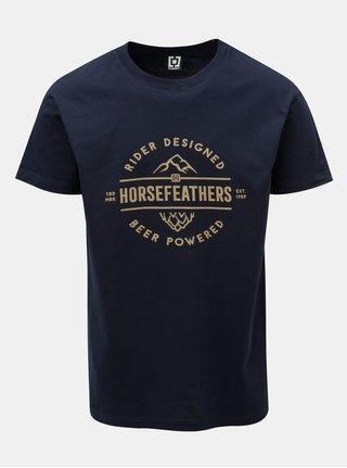 Tmavě modré pánské tričko s potiskem a krátkým rukávem Horsefeathers Mt. Top