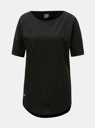 Černé dámské volné tričko s krátkým rukávem a nášivkou Horsefeathers Talia