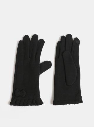 Čierne rukavice s mašľou Dorothy Perkins Jersey