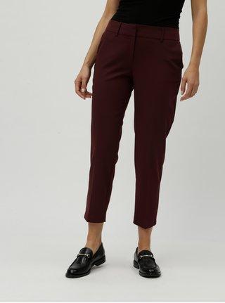 Vínové chino kostýmové kalhoty Dorothy Perkins