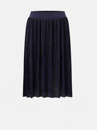 Tmavě modrá plisovaná sukně Noisy May Elsa