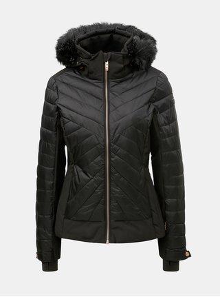 Jacheta neagra matlasata impermeabila de schi de iarna de dama cu blana artificiala killtec Khya