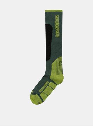 Zelené pánske snowboardové ponožky Horsefeathers Caleb Thermolite