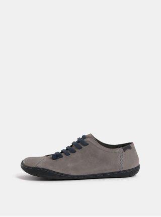 Sivé dámske kožené topánky Camper Cami Hell