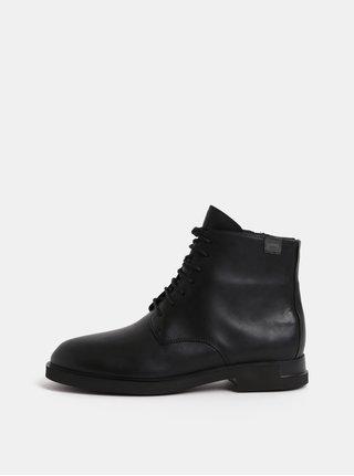 Černé dámské kožené kotníkové boty Camper Iman
