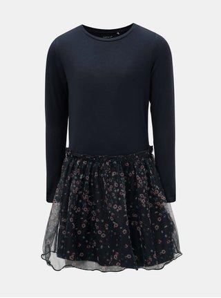 Tmavě modré květované šaty Name it Folala