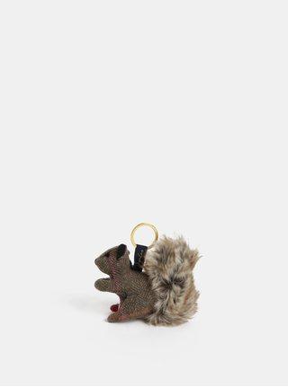 Vlněný přívěšek na klíče ve tvaru veverky Tom Joule