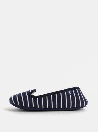 Bielo–modré dámske pruhované papuče Tom Joule