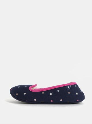 Tmavomodré dámske bodkované papuče Tom Joule
