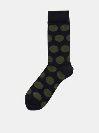 Zeleno-modré pánské puntíkované ponožky ZOOT