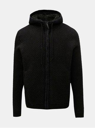 Černý svetr na zip ONLY & SONS Kenneth
