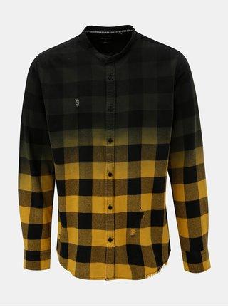 Zeleno-žlutá kostkovaná slim fit košile ONLY & SONS Gudmund