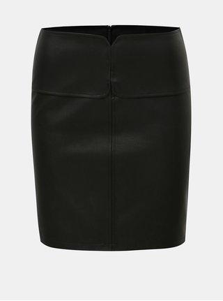 Černá koženková sukně Noisy May Allan