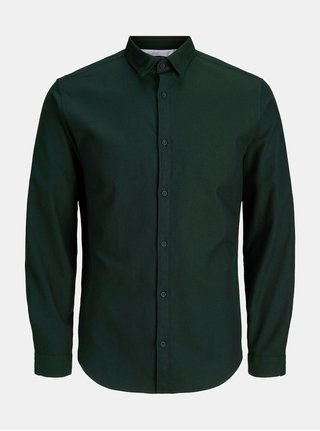 Tmavě zelená slim fit košile Jack & Jones Ray