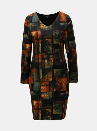 Černo-oranžové šaty s podzimním motivem Smashed Lemon