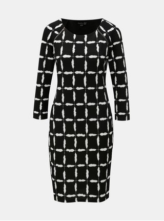 Bílo-černé vzorované šaty se zipy v dekoltu Smashed Lemon