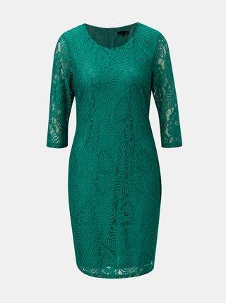 Zelené čipkované šaty s 3/4 rukávom Smashed Lemon