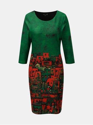 Červeno–zelené šaty s motívom mesta Smashed Lemon