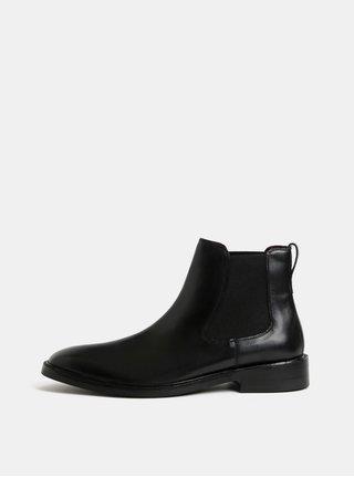 Čierne pánske kožené chelsea topánky London Brogues