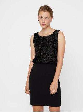 Černé pouzdrové šaty se zdobením VERO MODA Shane