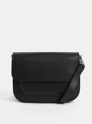 Černá malá kožená crossbody kabelka BREE