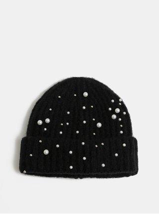 Caciula neagra de iarna cu margele Pieces Felia
