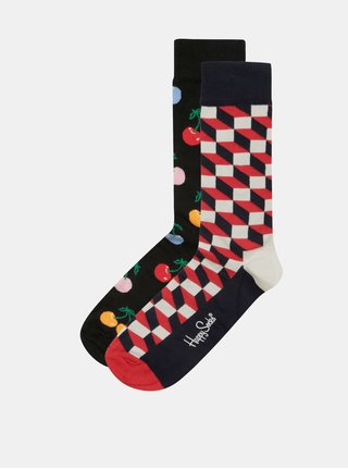 Sada dvou párů pánských vzorovaných ponožek v dárkovém balení Happy Socks Gift Cracker