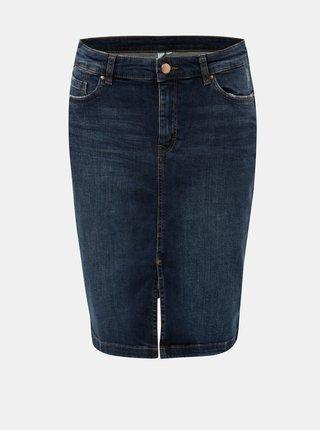 Modrá džínová sukně s rozparkem v přední části QS by s.Oliver