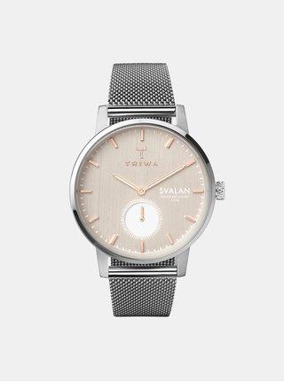 Dámske hodinky s nerezovým remienkom v striebornej farbe TRIWA Blush Svalan