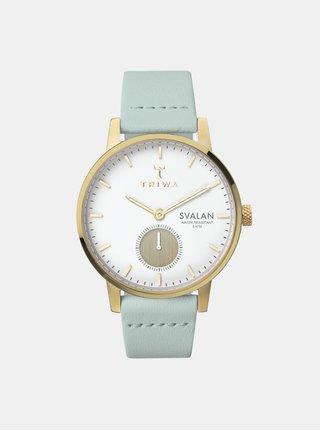 Dámske hodinky s mentolovým koženým remienkom TRIWA Ivory Svalan