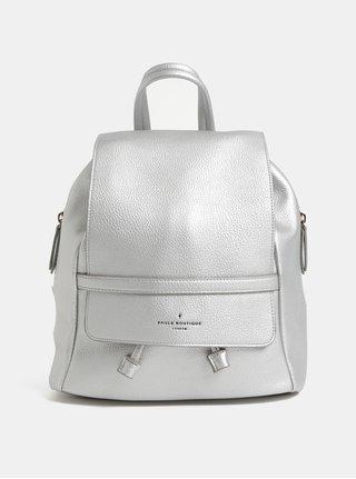 Koženkový batoh v striebornej farbe Paul's Boutique Charlie