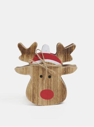 Balenie štyroch drevených podtácok s motívom vianočného soba Sass & Belle Rudolf