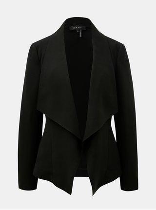 Černé sako s kapsami DKNY Drape