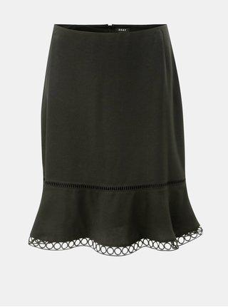 Čierna sukňa s čipkovaným lemom DKNY Flare
