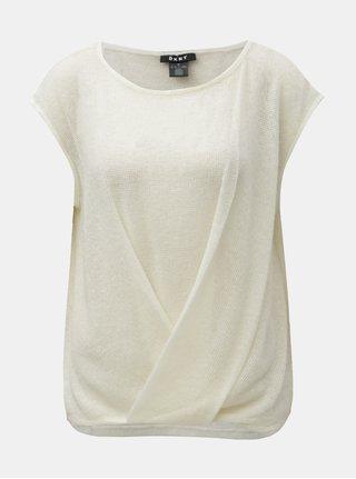 Krémový sveter bez rukávov DKNY