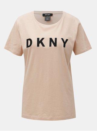 Staroružové tričko s nášivkou loga DKNY Foundation