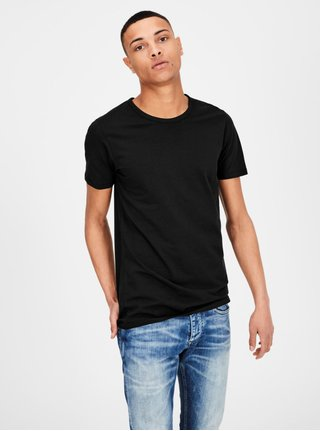 Tricou basic negru Jack & Jones Basic