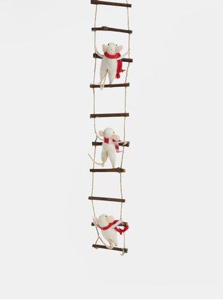 Decoratie de agatat cu soareci de Craciun Sass & Belle Ladder Climbing Mice