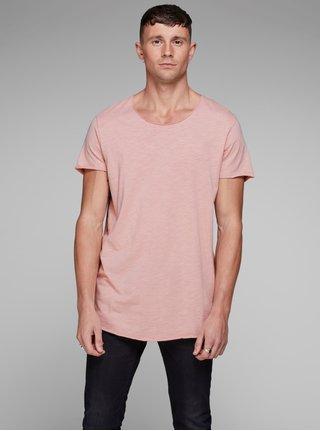 Ružové basic tričko Jack & Jones Bas