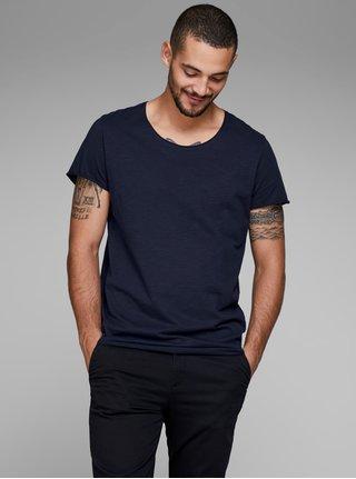 Tmavomodré basic tričko Jack & Jones Bas