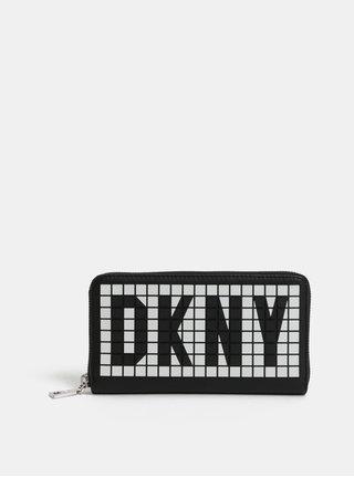 Bielo–čierna peňaženka s plastickým logom DKNY Tilly