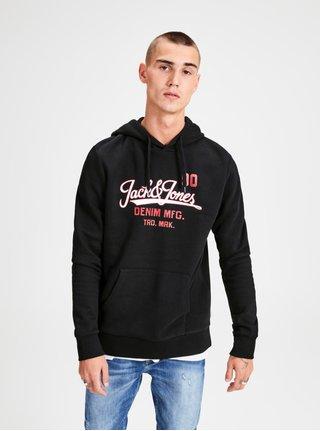 Černá mikina s potiskem Jack & Jones Logo