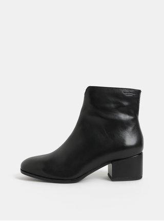 abd51ff661d Černé dámské kožené kotníkové boty na nízkém podpatku Vagabond Daisy