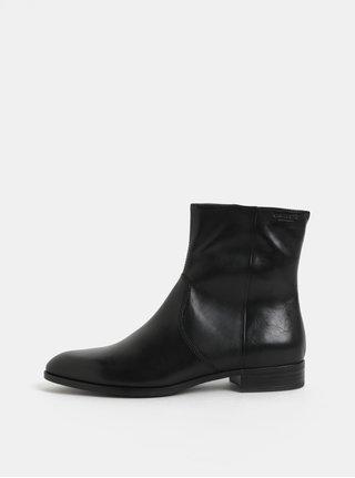 Čierne dámske kožené členkové topánky Vagabond Frances Sister